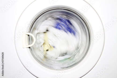 close-up od washing machine