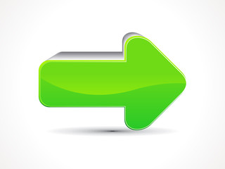 abstract green shiny arrow icon