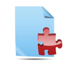 Icono documento 3D con simbolo plugin