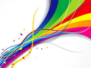 abstract colorful weve background