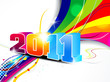 abstract new year wave background
