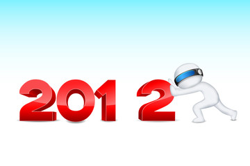 3d man pushing 2012