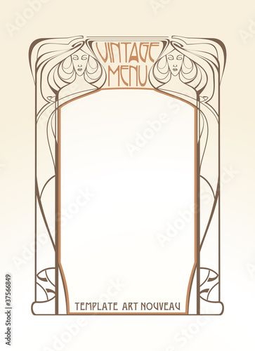 Template frame design for menu