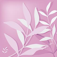 Fondo rosa  con foglie