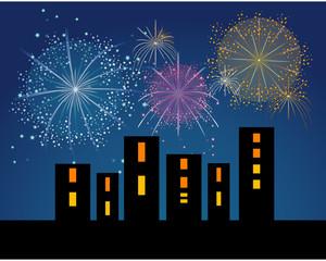 Fuochi d'artificio in città