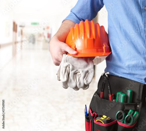 Leinwanddruck Bild Maintenance technician -Tecnico