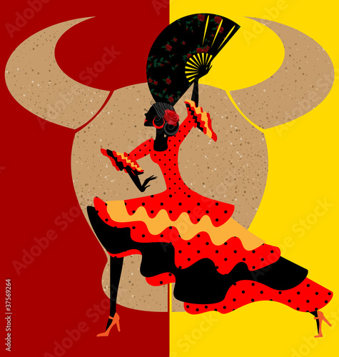 Wall mural Spanish flamenco