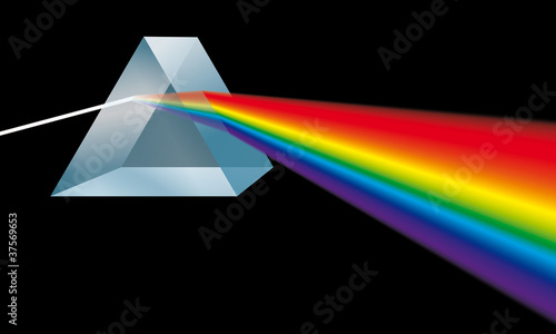 Leinwandbild Motiv Spektralfarben Prisma