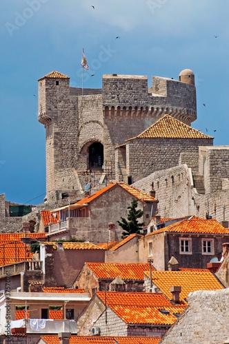 Papiers peints Orange eclat Tower in Dubrovnik