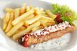 Frikandel Spezial, Pommes frites