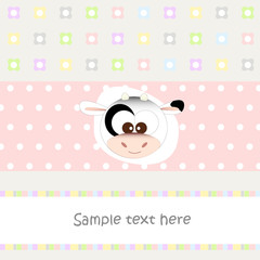 mucca - baby background - baby shower