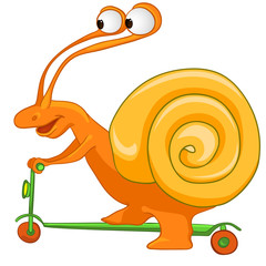 Cartoon Character Snail