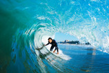 Surfer On Blue Ocean Wave - Fine Art prints