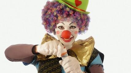 il clown e le bolle di sapone