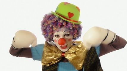 il clown e il pugilato
