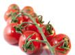 grappe de tomates isolées