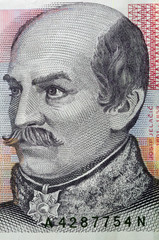 portrait of 20 kuna croatian banknote