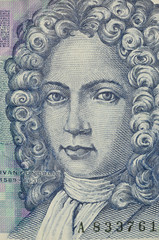 portrait of 50 kuna croatian banknote