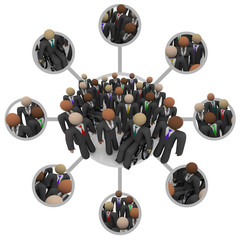 Diverse Workforce of Connected Professional People in Suits