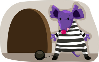 cartoon mouse prisoner