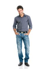 Smiling guy full length