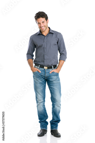 Smiling guy full length