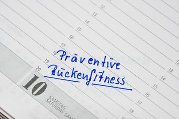 Präventive Rückenfitness