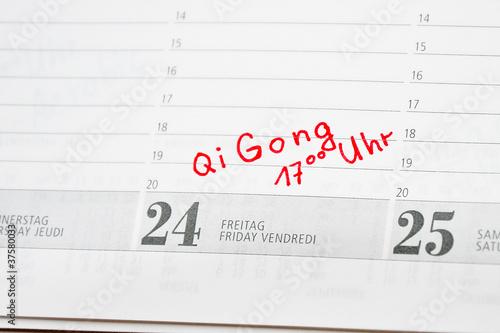 Qi Gong Termin im Kalender notiert