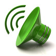 Green speaker icon