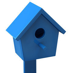 Blue starling house
