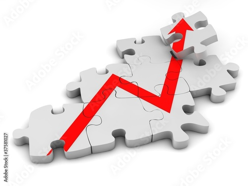 Erfolg - Diagramm - Puzzle