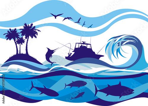 fishing on the high seas - 37581232