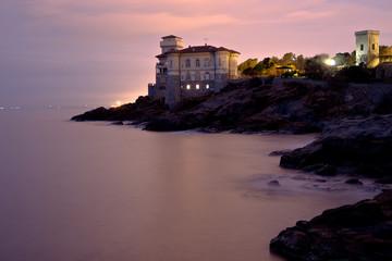 Toscana, Livorno: il Castello del Boccale al tramonto.
