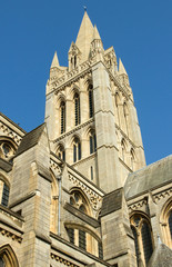 Truro Cathedral tower, Cornwall UK.