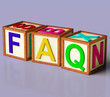 Blocks Spelling Faq As Symbol for Questions And Answers
