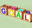 Blocks Spelling Goal As Symbol for Target And Success