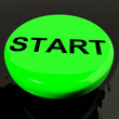 Start Button As Symbol For Control Or Activating
