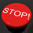 Stop Button As Symbol For Panic Or Warning