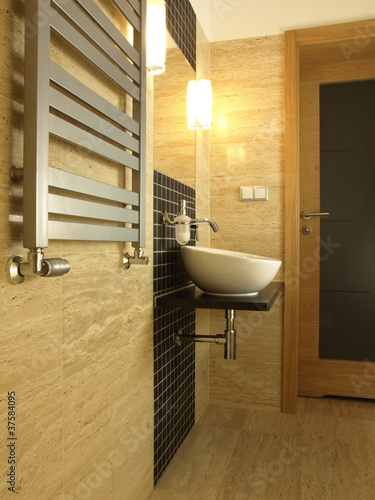 Luxury bathroom with vessel sink
