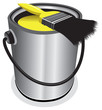yellow paint pot