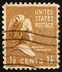 Postage stamp USA 1938 Martha Washington