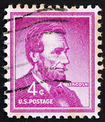 Postage stamp USA 1954 Abraham Lincoln