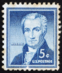 Postage stamp USA 1954 James Monroe
