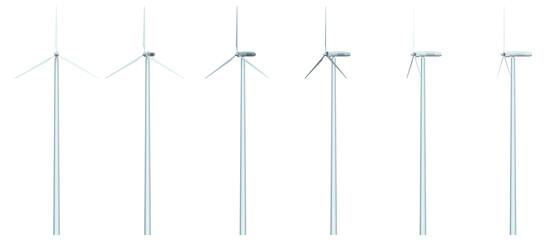 wind generator isolated on white