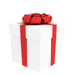 present isolated on white