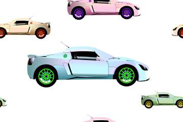 sport cars pattern