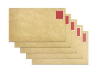 Five envelopes