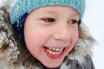 Winter portrait of child