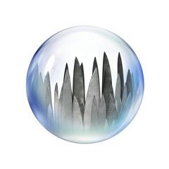 blades inside bubble