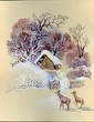 Watercolor Landscape Collection: Wintertime